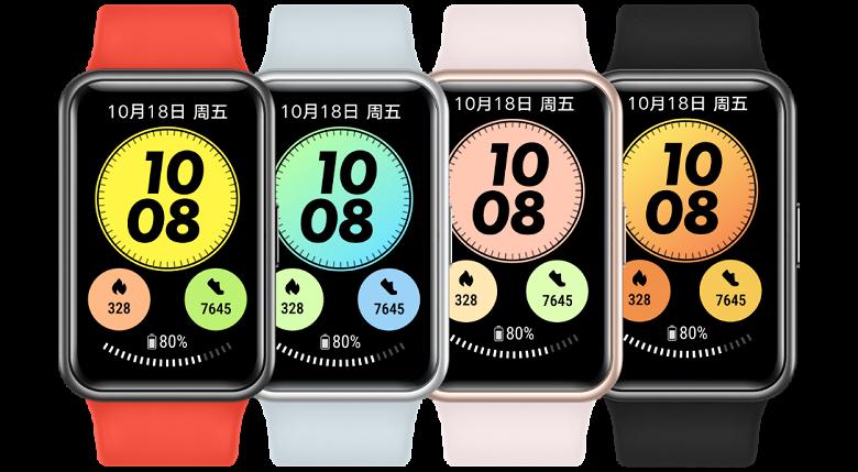 Представлены умные часы Huawei Watch Fit следующего поколения — поддержка NFC по цене прошлогоднего хита