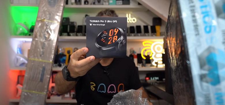 Умные часы TicWatch Pro 3 Ultra GPS со Snapdragon Wear 4100+ утекли до анонса. Опубликовано первое видео с распаковкой