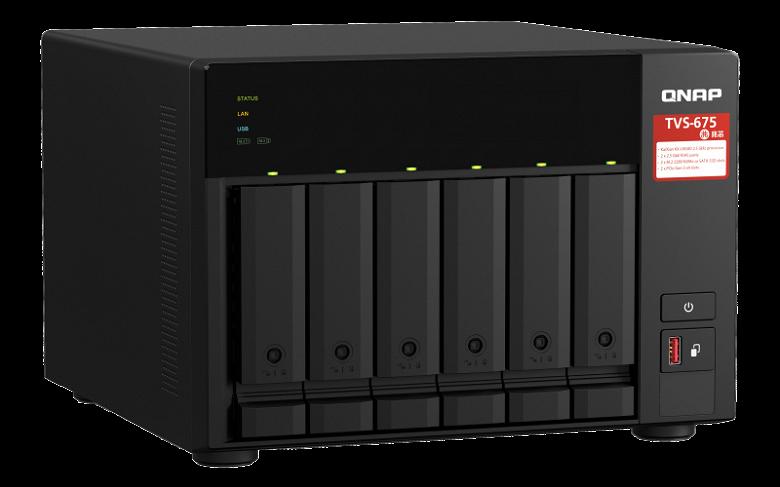 Основой хранилища Qnap TVS-675 служит процессор Zhaoxin KaiXian KX-U6580