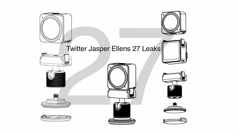 DJI Action 2 станет одной из самых маленьких экшн-камеры. Раскрыты характеристики и дизайн новинки