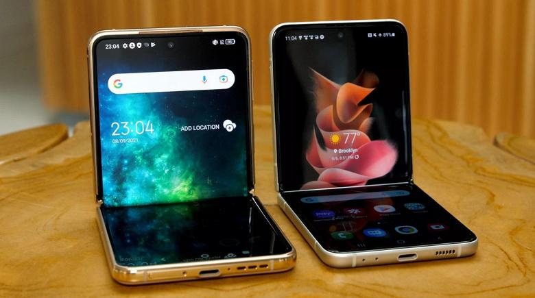 Два экрана AMOLED, Snapdragon 765G, камеры разрешением 44 и 48 Мп. TCL рассекретила свой смартфон-раскладушку, который никто не сможет купить