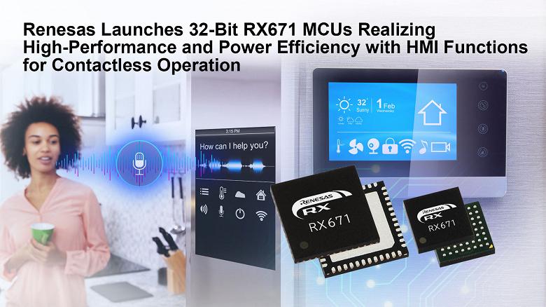 Renesas RX671 — высокопроизводительные 32-битные микроконтроллеры с функциями бесконтактного HMI