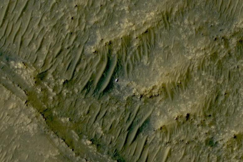 Опубликовано последнее фото марсохода Perseverance с орбиты перед прекращением связи