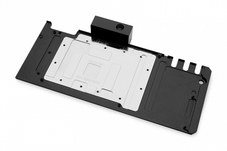 Активная задняя панель EK-Quantum Vector TRIO RTX 3080/3090 предназначена для видеокарт MSI Trio и Suprim GeForce RTX 3080 и 3090