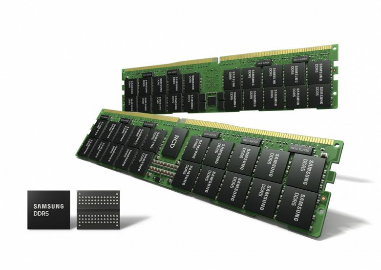 Samsung начинает массовое производство 14-нанометровой памяти DRAM DDR5 с применением EUV