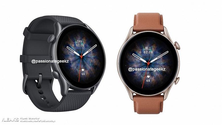 Так выглядят лучшие умные часы Huami 2021 года. Amazfit GTR 3 Pro показали на рендерах и рассказали об их характеристиках