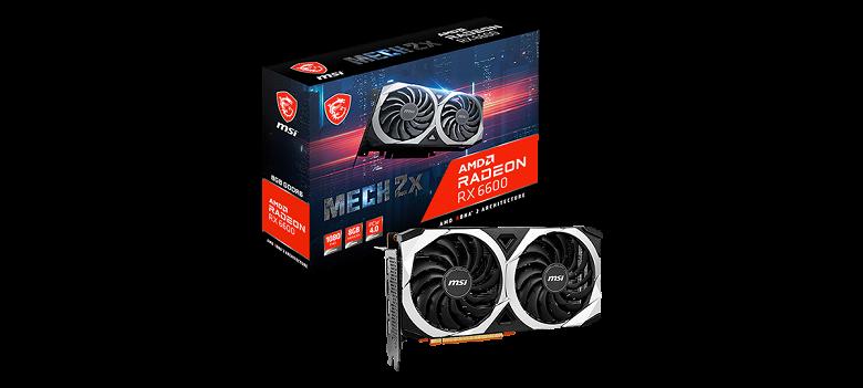 Представлена видеокарта MSI Radeon RX 6600 Mech 2X