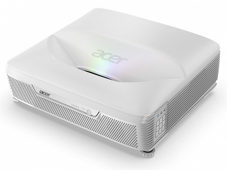 Лазерный проектор Acer L811 оснащен ультракороткофокусным объективом