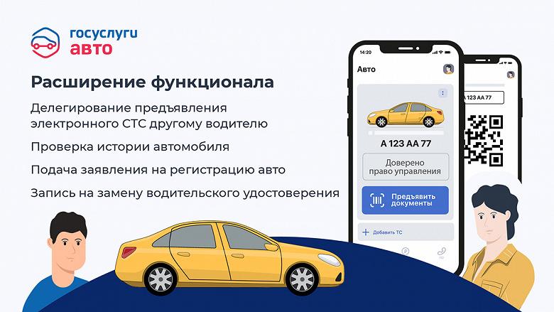 «Госуслуги Авто» для водителей по доверенности — можно предъявлять смартфон вместо бумажного СТС