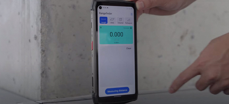 Как работает лазерное измерение длины, площади и объёма при помощи смартфона Ulefone Power Armor 13: опубликовано новое видео