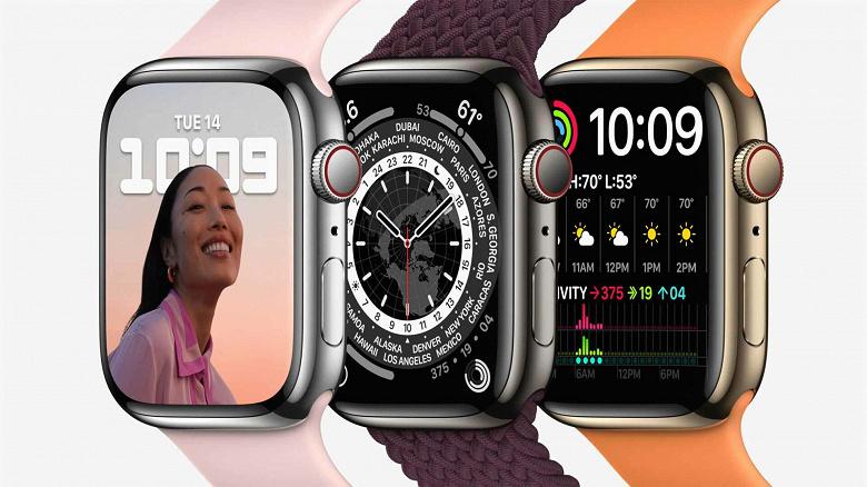 От 400 до 850 долларов. Названа стоимость всех версий умных часов Apple Watch Series 7