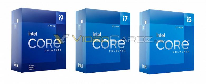 В сети появились изображения упаковки процессоров Intel Core 12-го поколения (Alder Lake)