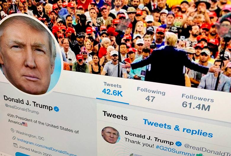 Дональд Трамп подал в суд на Twitter за блокировку его учётной записи