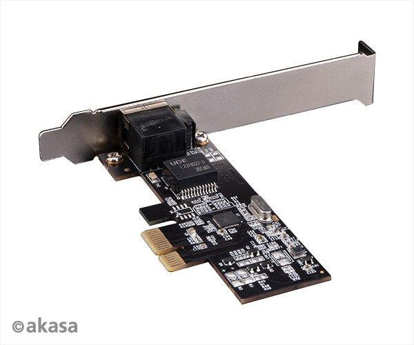 Ассортимент Akasa пополнила низкопрофильная сетевая карта с портом 2,5 GbE