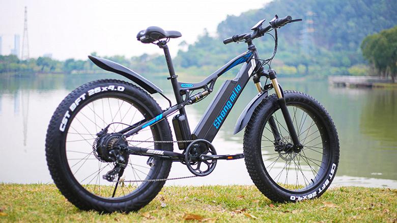Грузоподъемность до 200 кг, скорость 50 км/ч и запас хода 90 км. Электрические горные велосипеды Shengmilo  предлагаются по сниженным ценам