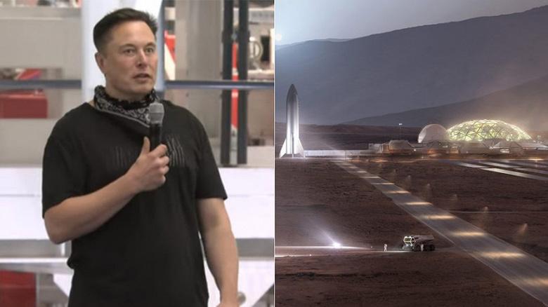 Илон Маск хочет построить завод Tesla на Марсе