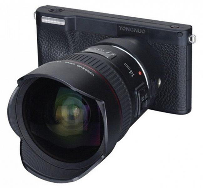 Миссия скрестить смартфон и беззеркалку: в Китае анонсирована Android-камера с байонетом Canon EF и 16-мегапиксельной матрицей Four Thirds