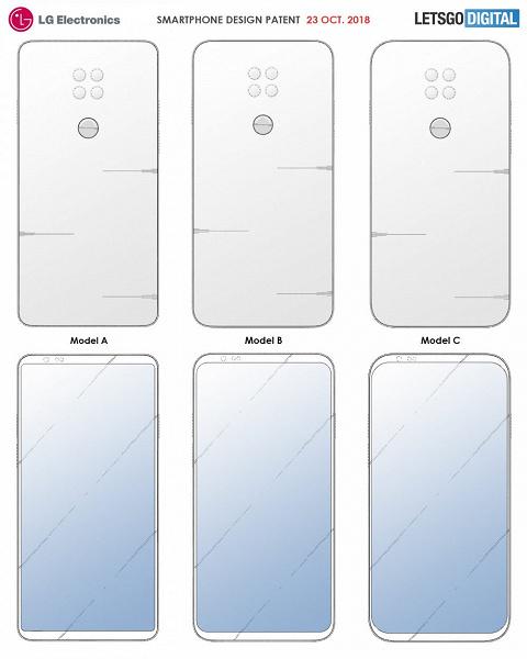 LG показала, как могут выглядеть смартфоны с безрамочным экраном и основной камерой с четырьмя объективами