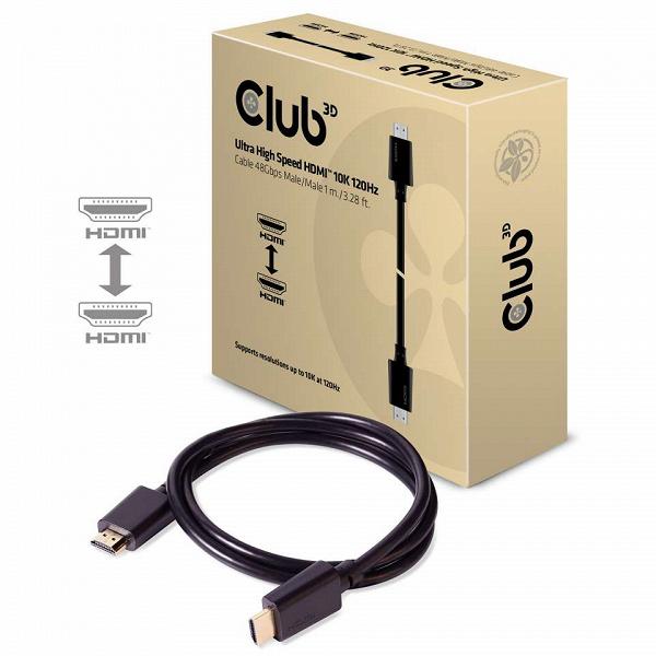 У Club3D готовы кабели HDMI 2.1 с пропускной способностью 48 Гбит/с