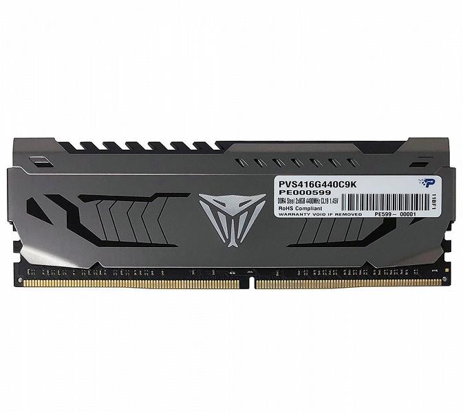 Модули памяти Patriot Viper Steel DDR4-4400 работают с задержками CL19-19-19-39