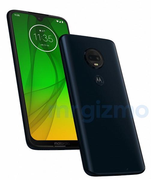 Опубликованы характеристики и изображение смартфона Moto G7 Plus
