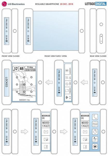 LG готовит к выпуску смартфон-свиток