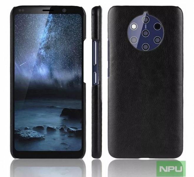 Смартфон Nokia 9 PureView, оснащенный камерой с пятью объективами, позирует на новых картинках в чехлах