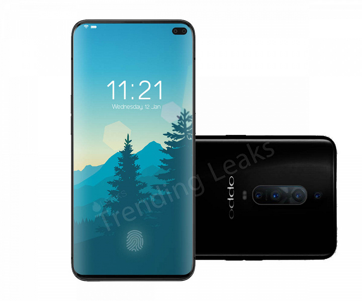 Опубликованы характеристики и рендер смартфона Oppo F10: Snapdragon 855, изогнутый экран, 6 камер суммарным разрешением 130 Мп и АКБ емкостью 4500 мАч