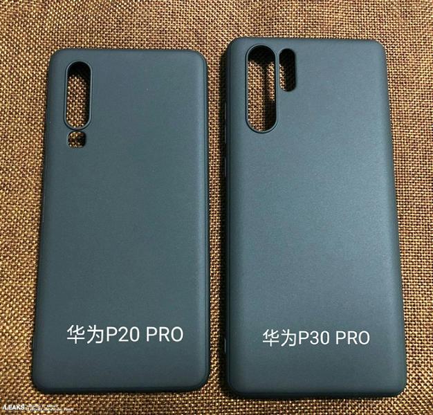 Появились качественные изображения флагманского камерофона Huawei P30 Pro и фото чехлов для Huawei P30