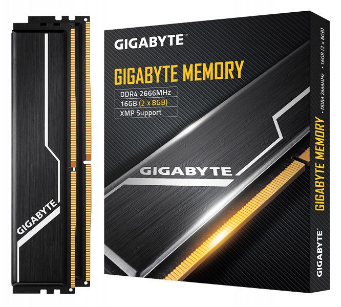 Каталог Gigabyte пополнили скромно оформленные модули памяти DDR4-2666 с добротными радиаторами