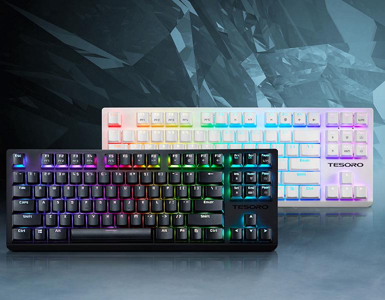 Механическая клавиатура Tesoro GRAM Spectrum TKL насчитывает 87 клавиш