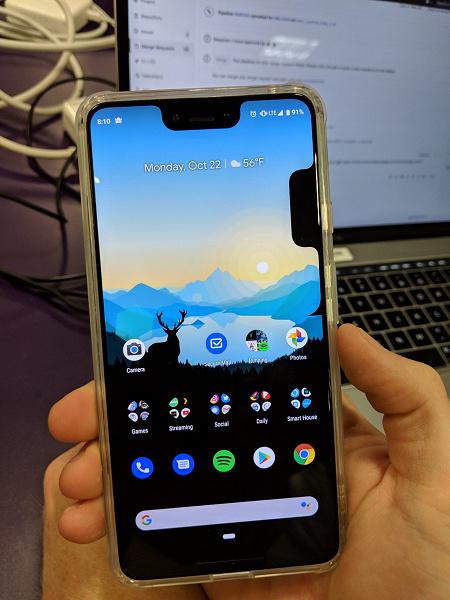 У флагманского смартфона Google Pixel 3 XL обнаружили вторую «бровь»