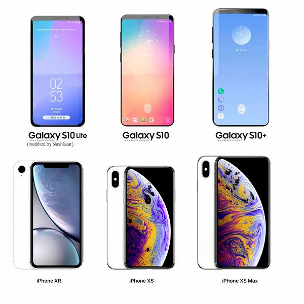 Три флагманских смартфона Samsung Galaxy S10 нацелены на конкуренцию с iPhone XR, iPhone XS и XS Max