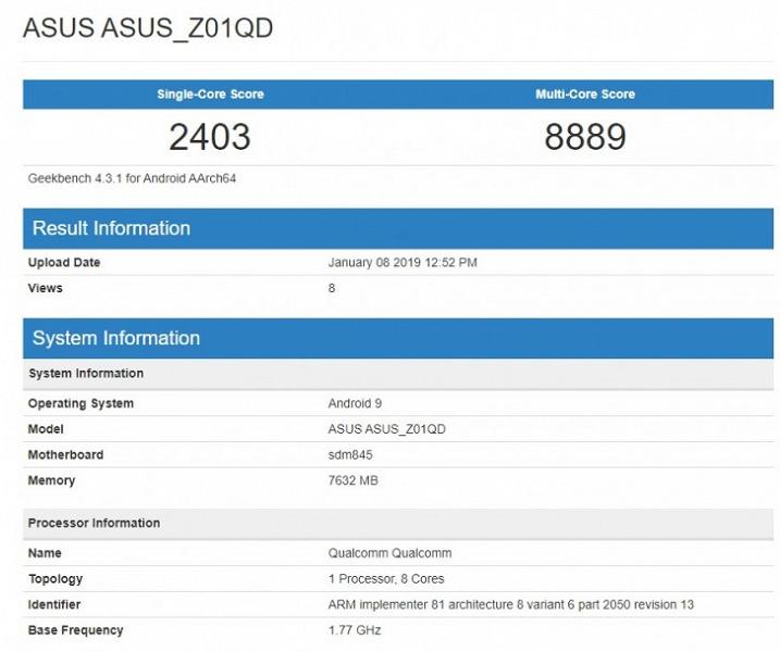 Смартфон Asus ROG Phone скоро получит Android 9.0 Pie