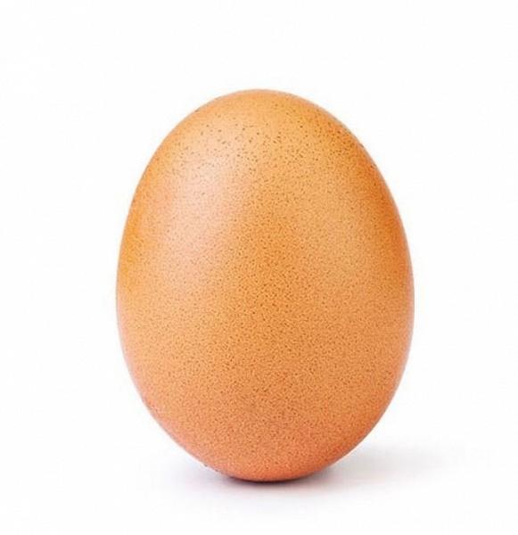 Фотография яйца установила мировой рекорд по числу лайков