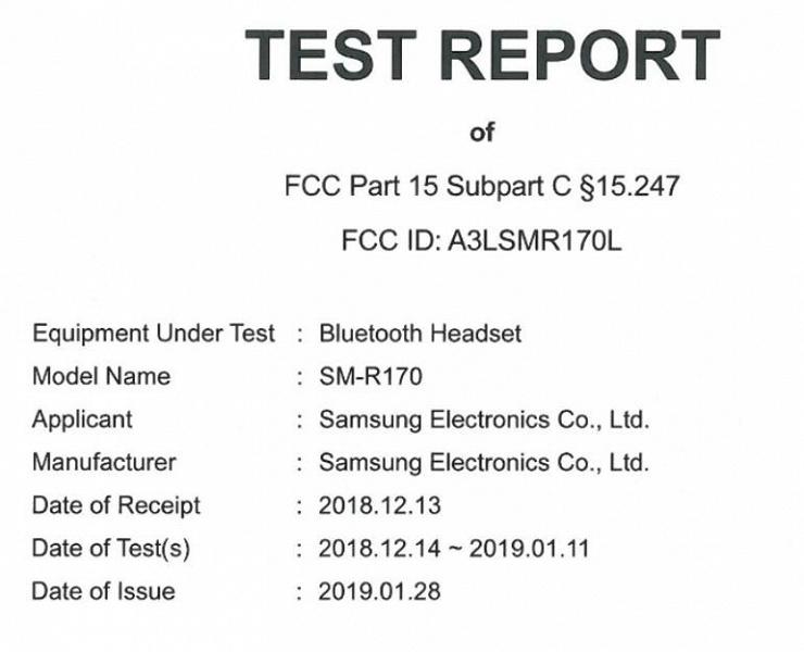 Наушники Galaxy Buds прошли сертификацию FCC