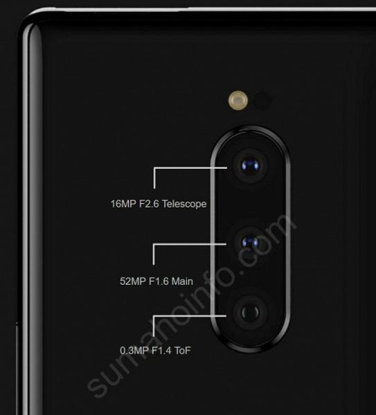 Подробности о тройной камере Sony Xperia XZ4: основной датчик разрешением 52 Мп, телеобъектив и модуль ToF
