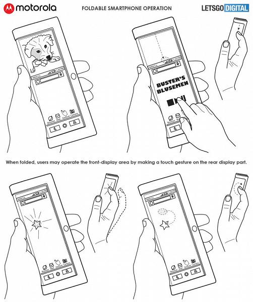Появились первые изображения смартфона Motorola со сгибающимся экраном