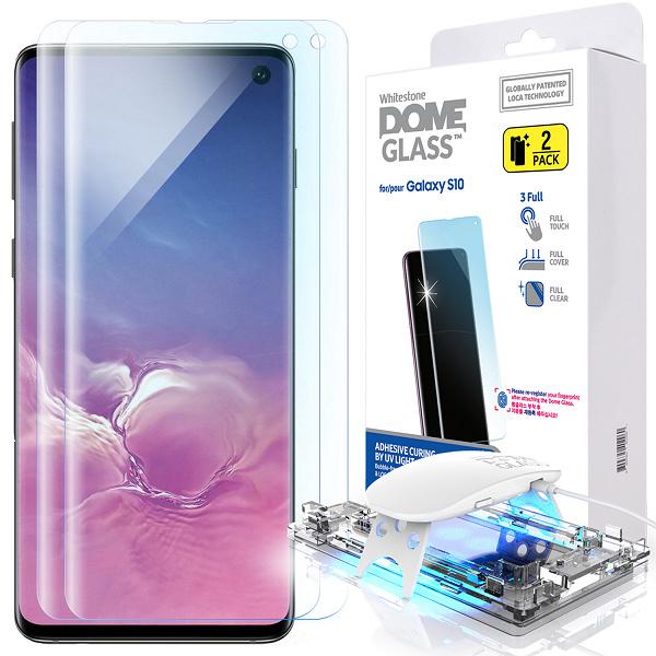 Защитному стеклу Whitestone Dome Glass для Samsung Galaxy S10 не нужно отверстие для распознавания отпечатков пальцев