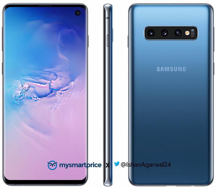 Голубые смартфоны Samsung Galaxy S10 и Galaxy S10e впервые показались на официальных изображениях