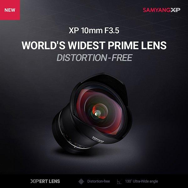 Представлен объектив Samyang XP 10mm F3.5 — самый широкоугольный объектив с фиксированным фокусным расстоянием и скорректированными геометрическими искажениями