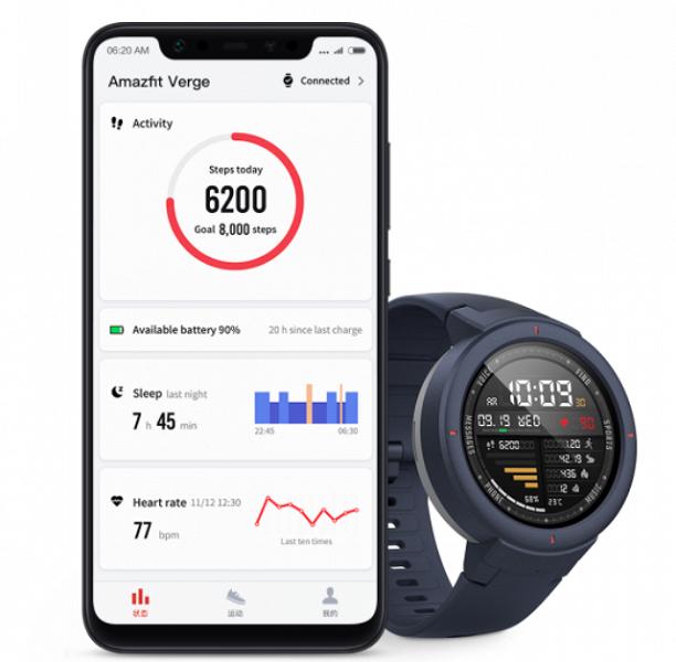 Не дёшево. Контрактный производитель Xiaomi привёз умные часы Huami Amazfit Verge в Россию