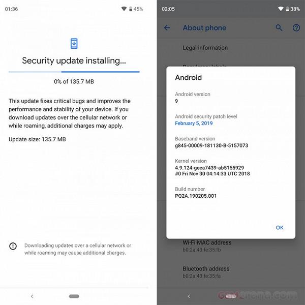 Все смартфоны Google Pixel получили свежее обновление Android