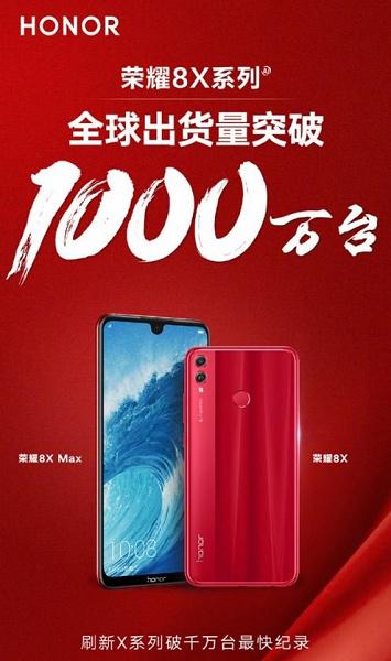 Смартфоны Honor 8X и 8X Max бьют рекорды продаж
