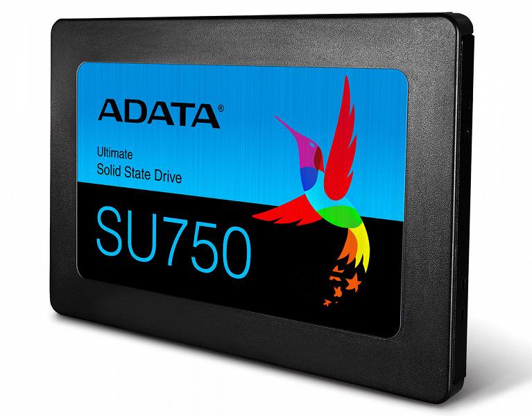 В твердотельных накопителях Adata Ultimate SU750 используется флэш-память TLC 3D NAND