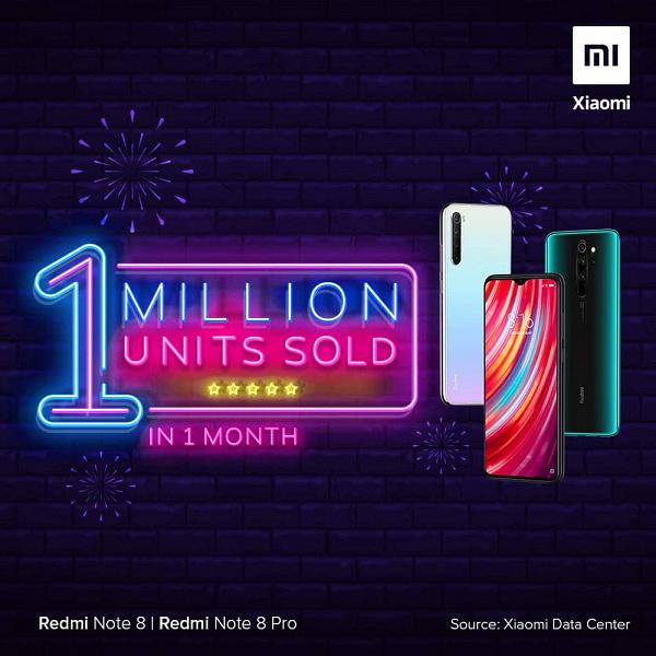 Redmi Note 8 и Redmi Note 8 Pro установили рекорд