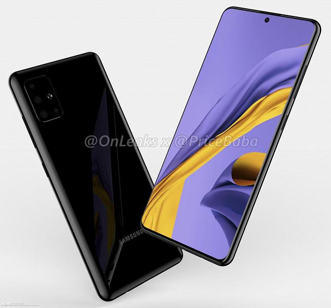 Новинка Samsung Galaxy A51 получила разъем 3,5 мм, квадрокамеру и плоский экран с отверстием