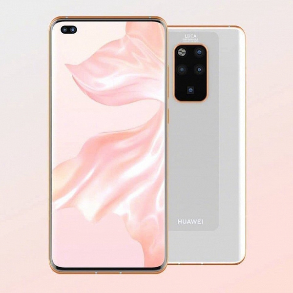 Huawei Mate 40 Pro впервые показан на рендере целиком