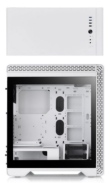 Корпус Thermaltake S500 Tempered Glass Snow Edition окрашен в белый цвет
