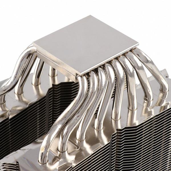 Конструкция системы охлаждения Thermalright Silver Arrow IB-E Extreme Rev. B включает восемь тепловых трубок